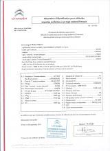 Certificato di conformità Citroen
