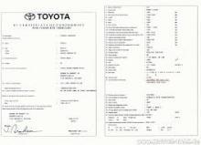 Certificato di conformità Toyota